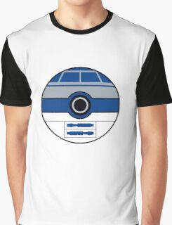 R2D2 Pokemon Ball Mash-up Graphic T-Shirt