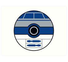 R2D2 Pokemon Ball Mash-up Art Print