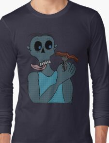 Zombie and Bacon  Long Sleeve T-Shirt