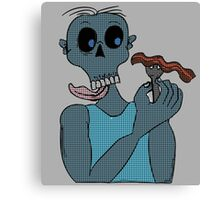 Zombie and Bacon  Canvas Print