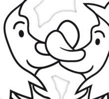 süßes niedliches kleine Igel pärchen paar liebe küssen verliebt team freunde  Sticker