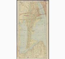 Vintage Map of Bayonne NJ (1912) Unisex T-Shirt