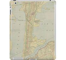 Vintage Map of Bayonne NJ (1912) iPad Case/Skin