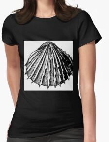 Blood and Sand Shell Womens Fitted T-Shirt