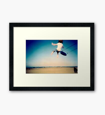 Lomo - And then you let go... Framed Print