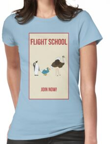 Flight School Illustration Womens Fitted T-Shirt