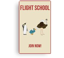 Flight School Illustration Canvas Print