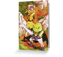 Lucca & Frog Greeting Card