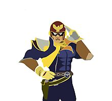 Captain Falcon Vector Photographic Print
