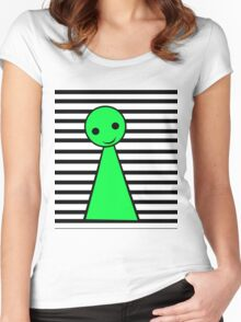 Green pawn  Women's Fitted Scoop T-Shirt