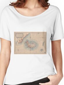 Vintage Map of Iceland (1767) Women's Relaxed Fit T-Shirt