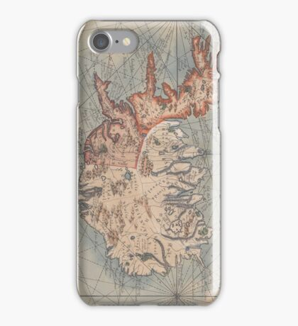 Vintage Map of Iceland (1767) iPhone Case/Skin