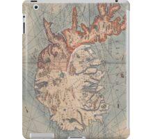 Vintage Map of Iceland (1767) iPad Case/Skin