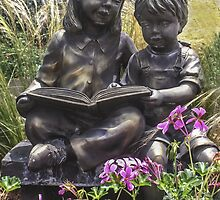 Reading In the Garden  by Heather Friedman