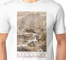 Vintage Map of Berlin Germany (1870) Unisex T-Shirt