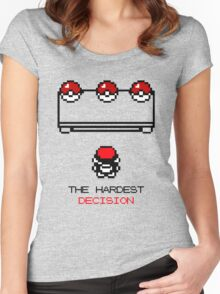The Hardest Decision  Women's Fitted Scoop T-Shirt
