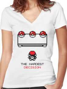 The Hardest Decision  Women's Fitted V-Neck T-Shirt