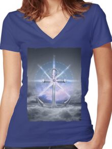 Life's Roughest Storms • Refuse To Sink  Women's Fitted V-Neck T-Shirt