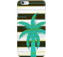 Palm tree on stripes iPhone Case/Skin