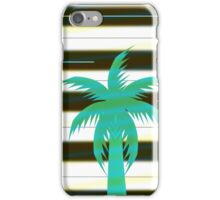 Palm tree on stripes iPhone Case/Skin