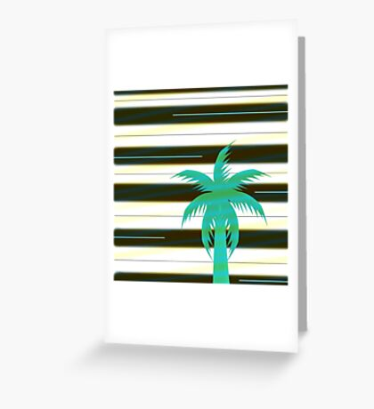 Palm tree on stripes Greeting Card