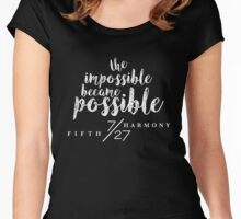 The impossible became posisble Women's Fitted Scoop T-Shirt