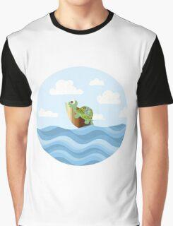 Surfing Turtle Graphic T-Shirt