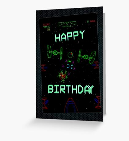Player One (Birthday card) Greeting Card
