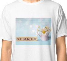 Daisies in summer watering can Classic T-Shirt