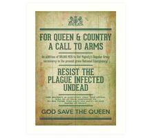 Resist the Plague infected undead Art Print