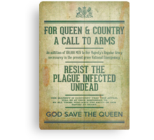 Resist the Plague infected undead Metal Print