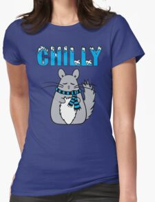 Chilly Chinchilla Womens Fitted T-Shirt