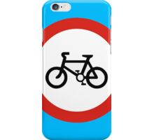 Cycling forbidden iPhone Case/Skin