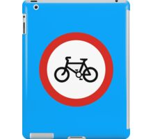 Cycling forbidden iPad Case/Skin