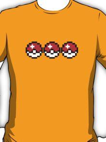 8 bit Pokeballs T-Shirt