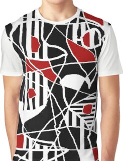 Red, black and white abstraction Graphic T-Shirt
