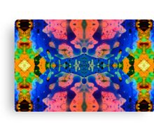 Pink Blue Psychedelic Pattern Canvas Print