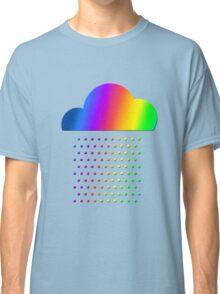 Colorful weather - we love rainbow rain! raindrop, clouds, color Classic T-Shirt