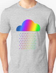 Colorful weather - we love rainbow rain! raindrop, clouds, color Unisex T-Shirt