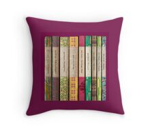 Jane Austen Novels Throw Pillow