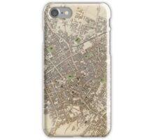 Vintage Map of Birmingham England (1839) iPhone Case/Skin
