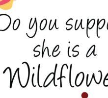 Alice Wildflower Sticker