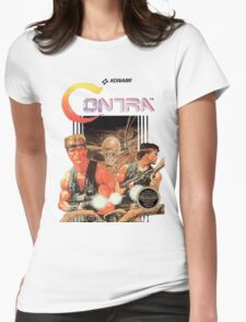 NES Contra Cover (Transparent)  Womens Fitted T-Shirt