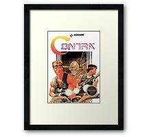 NES Contra Cover (Transparent)  Framed Print