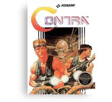 NES Contra Cover (Transparent)  Canvas Print