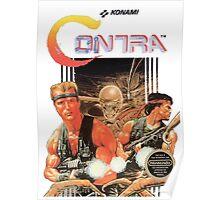 NES Contra Cover (Transparent)  Poster