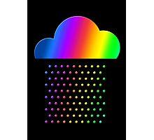 Colorful weather - we love rainbow rain! raindrop, clouds, color Photographic Print
