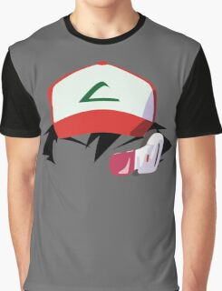 Ash with Scouter Graphic T-Shirt