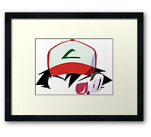 Ash with Scouter Framed Print
