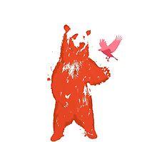 Bear & Bird by jackfords